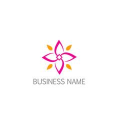 flower petal pink beauty nature logo vector image