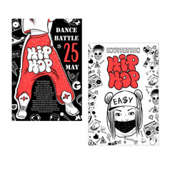 flyer poster rap battle concert hip-hop music vector image