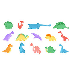 Funny dinosaurs colourful dinosaur print dino vector