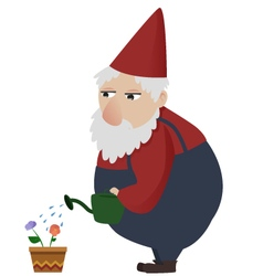 Gardening gnome vector image