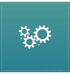 Gear with sparks vector image