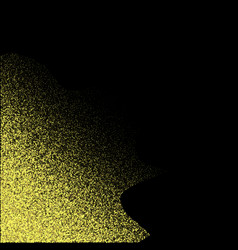 gold glitter texture isolated on black amber vector image