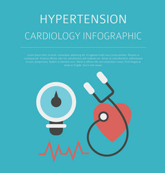 hypertension medical desease infographic vector image