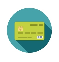 Icon credit bank card in a flat style with shadow vector image