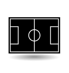 icon playground soccer vector image