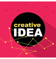 Idea concept creative background vector image