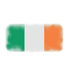 ireland flag halftone vector image
