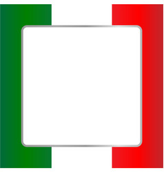 Italian flag card frame vector