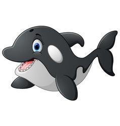 Killer whale cartoon vector image vector image