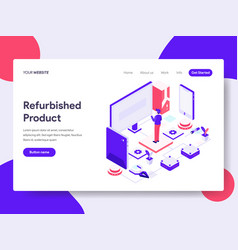 landing page template of refurbished product vector image