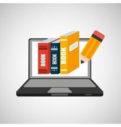 Learn online school books writing vector