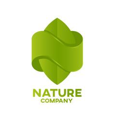 letter n nature logo vector image