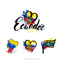 Logo for ecuador country fridge magnet vector