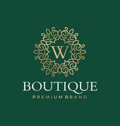 Luxury boutique logo template vector