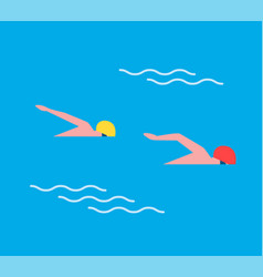 Man males in sport swimming vector
