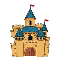 Medieval cartoon castle vector