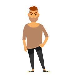 Modern man in stylish casual clothes isolated vector