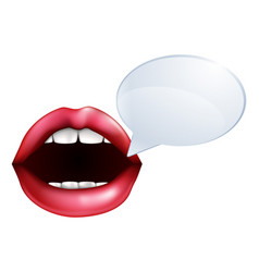 mouth or lips talking vector image
