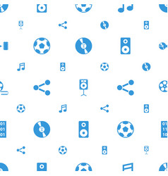 multimedia icons pattern seamless white background vector image