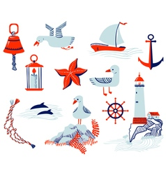 Nautical objects vector