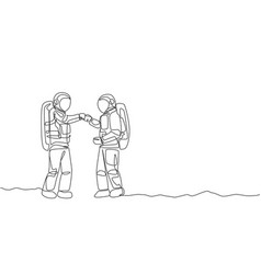 One continuous line drawing young happy vector