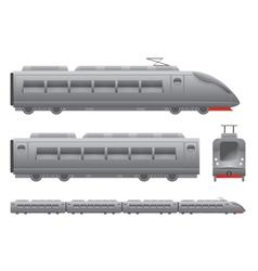 Passenger train vector image