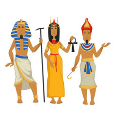 pharaohs and cleopatra egyptian kings and queen vector image