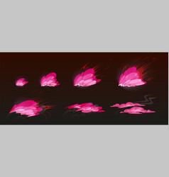 Pink burst sprites for game or animation vector