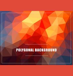 polygonal background mock-up vector image