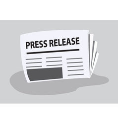 press release written on newspaper vector image