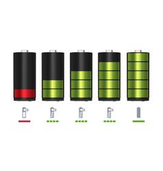 process recharging battery minimum and full vector image
