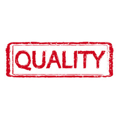 quality rubber stamp text vector image