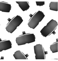 realistic detailed 3d virtual reality headset box vector image