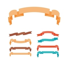 Ribbons in trendy style set vector image