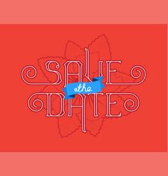 save date wedding invitation card vector image