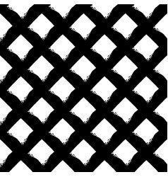 seamless pattern with brush stripes plaid vector image