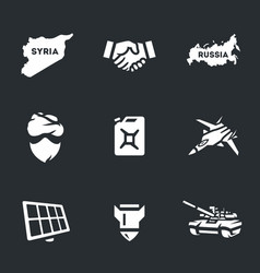 set of antiterrorist operation icons vector image