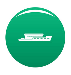 ship river icon green vector image