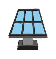 solar panel and plug icon image vector image