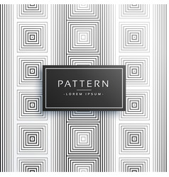 Stylish lines square style pattern background vector