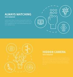 Surveillance Graphic Elements vector