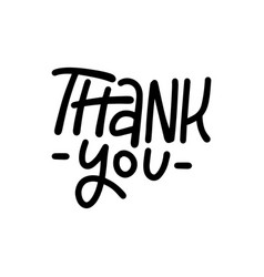thank you - typography and calligraphy text give vector image