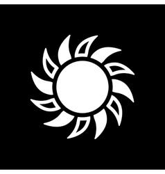 The sun icon Sunrise and sunshine weather sun vector image