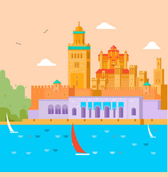 Travel concept travel in morocco study of the vector
