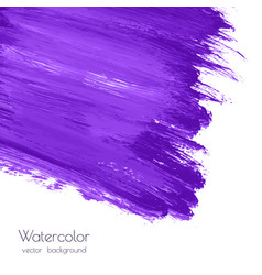 Violet purple watercolor brush strokes texture vector