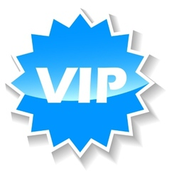 Vip blue icon vector