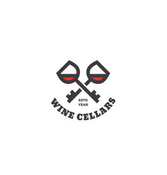 wine cellars logo vector image