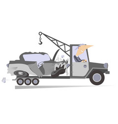 Wrecker isolated vector