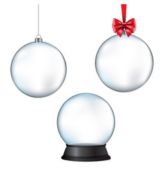 Xmas balls set with isolated white background vector