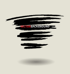 black brush texture background set vector image